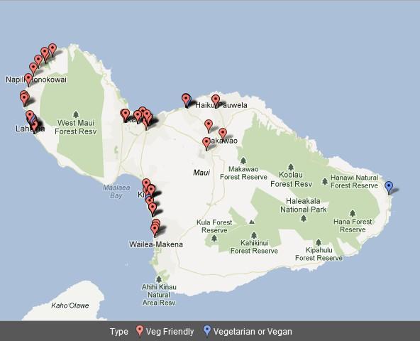 Wailea Hawaii Map.Vegetarian Friendly Businesses On Oahu Vegetarian Society Of Hawaii